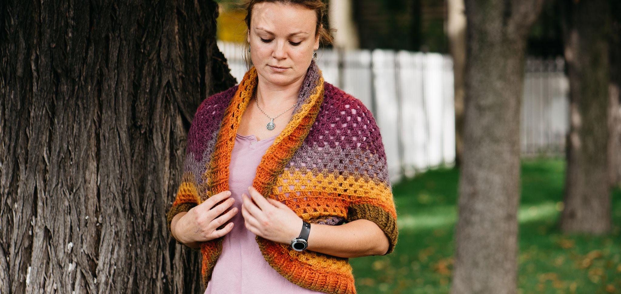 Плетена жилетка на една кука