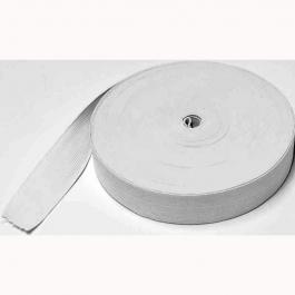 Elastic flat fabric white