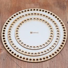 Дървена основа кръгла