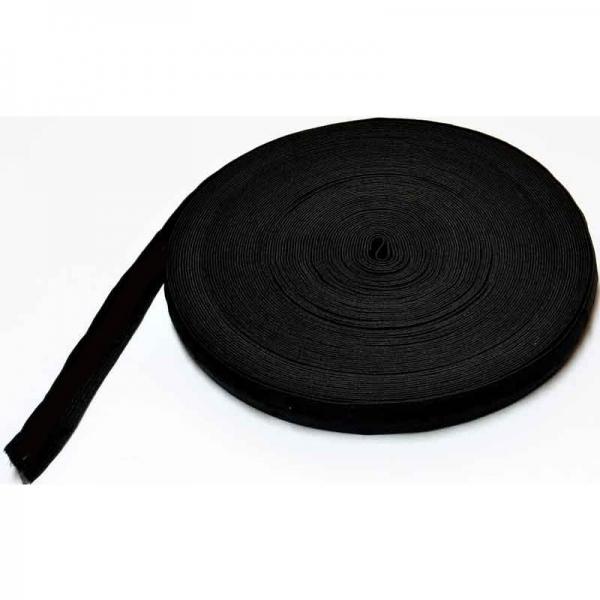 Elastic flat black fabric
