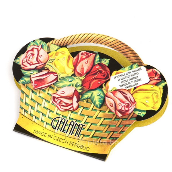 Чешка кошничка - комплект 19 игли и вдевачка