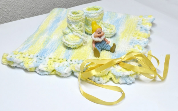 Baby blanket and slippers
