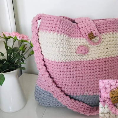 Bag from Macrame Cotton Cord