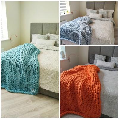 Chunky merino wool blankets