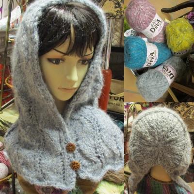 Lace patterned hood in Stenli Deva