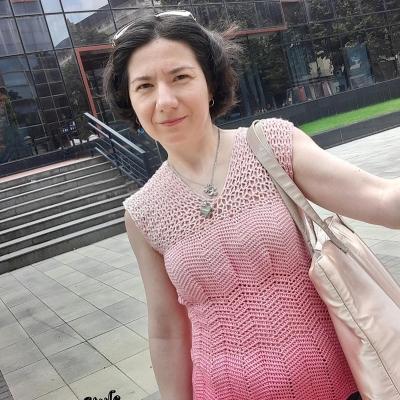 Лятна блуза от прежда Ализе Дива Омбре Батик