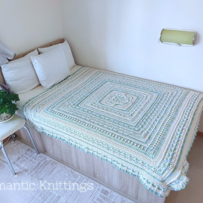 Bed cover with Stenli Naturel