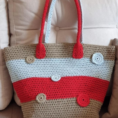 Bag made with Macrame Cotton 3 mm