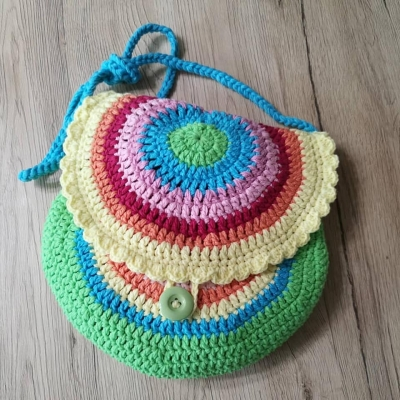 Crochet Bag with Yarn Art Jeans
