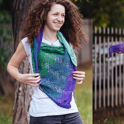 Цветен летен шал от памук