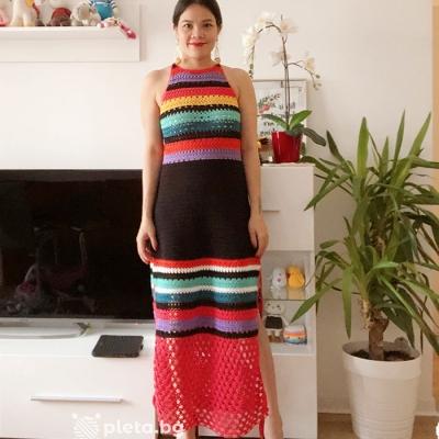 Dress from Alize Diva Silk Effect