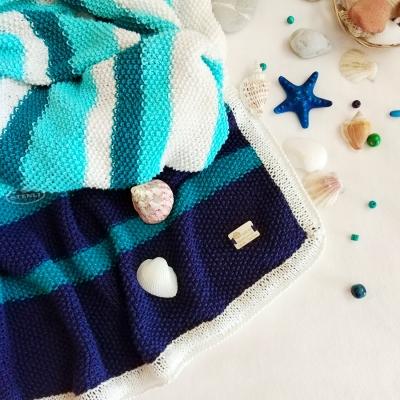 Бебешко одеяло от прежда Стенли Перла