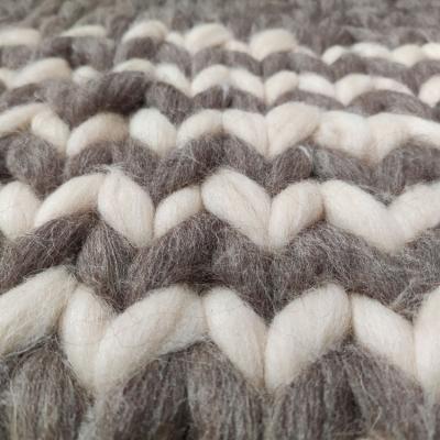 Blanket from Chunky 100% wool yarn