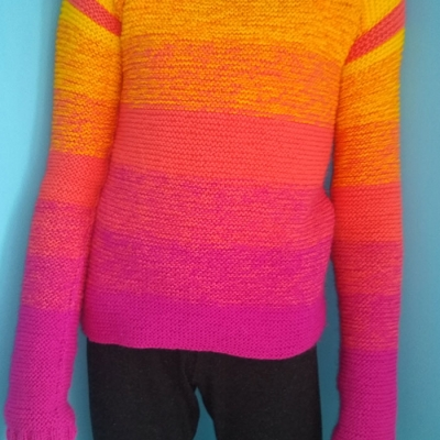 Multi colored sweater from Stenliyarn Baby Muffin