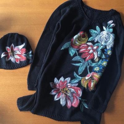 Sweater and beanie from Stenli Merino Baby